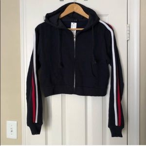 Brandy Melville Jackets & Coats - NWT Brandy Melville Striped Band Hoodie-One Sz